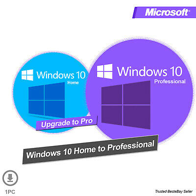 Upgrade Windows 10 Home to Windows 10 Pro Professional Activation Key + Guide