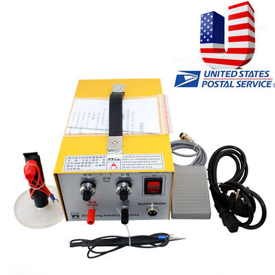 【US】 2in1 Jewelry Pulse Sparkle Spot Welder Electric Jewelry Welding Machine