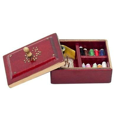 Vintage Sewing Needlework Needle Kit Box 1:12 Dollhouse Miniature Mini Dec