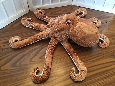 NEW Monterey Bay Aquarium RARE Big Octopus Plush Puppet AWESOME Hard to Find