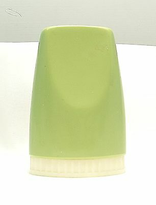 Salt shaker vintage green plastic removable base kitsch retro