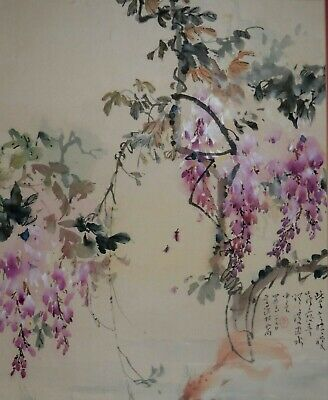 Artist Signed Original  Watercolor Painting Of Flowers