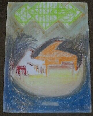 Jac Kephart Signed Original Pastel Painting And Sketch Of Pianist