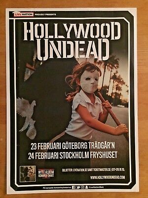 Hollywood Undead Swedish Live Poster 2018!! Great Imagery!! Amazing!! Unique!!
