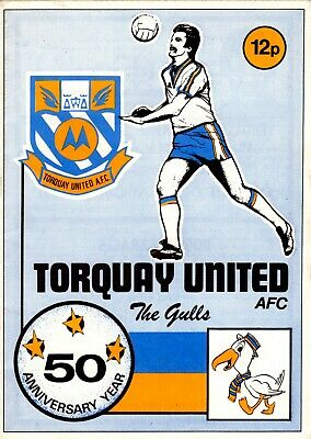 Torquay United v Halifax Town programme, Division 4, March 1978