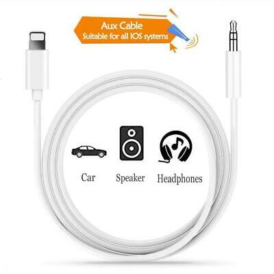 Cable Audio Auxiliaire Voiture pour iPhone 3.5mm Stereo Adaptateur White