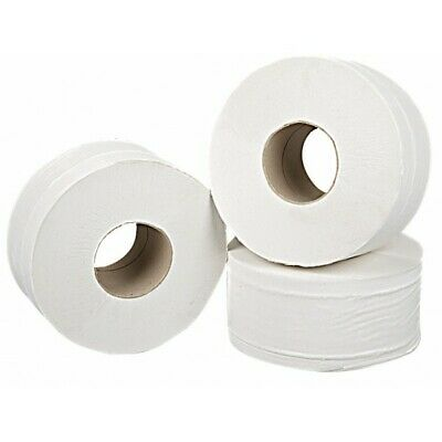 SAPPHIRE 2 Ply White Mini Jumbo Toilet Rolls - 150m - Pack of 12 WTL951502