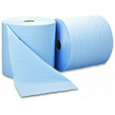 SAPPHIRE 2 Ply Blue Bumper Wiping Roll - 400m x 280mm - Pack of 2 BMR2804002