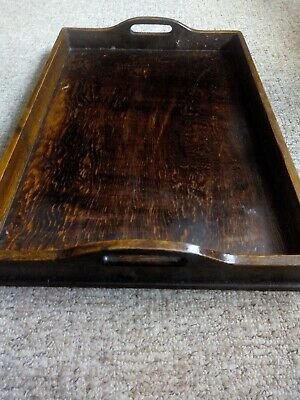Antique wooden butlers tray Victorian Edwardian