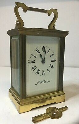 Antique J W Benson Mechanical Carriage Clock & Key - Spares / Repairs / Project