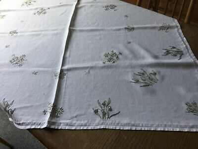 "Vintage  hand embroidered  tablecloth 42"" x 40"""