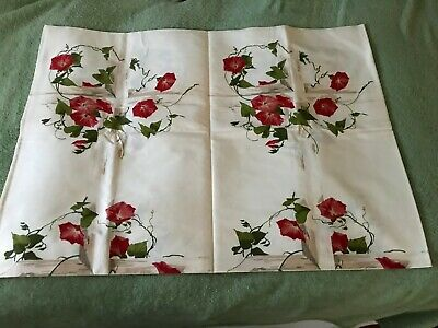 """Vintage ALL COTTON """"WILENDURE"""" 50's  <>52"""" x 70"""" <> Tablecloth MORNING GLORY"""