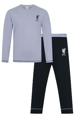 Mens Liverpool Football Club Long Pyjamas Premier League PJs LFC Pyjama PJ Grey