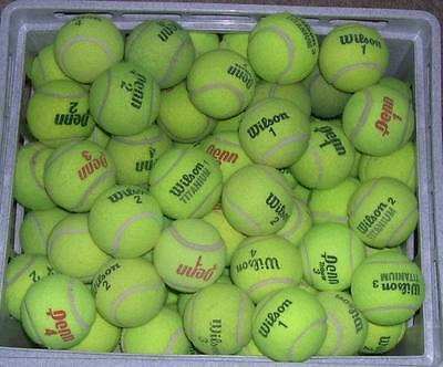 Lot of 100 Used Tennis Balls Chairs Dogs Batting Practice Continental US Only