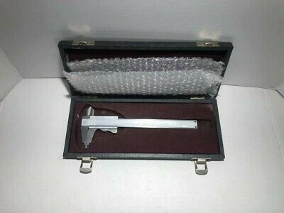 "Vintage Mauser Scherr-Tumico 6"" Caliper Stainless with Case"