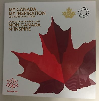 CANADA 2017 Collector Card MY CANADA MY INSPIRATION with 7 coins (BU From roll)