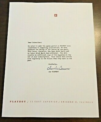 """Playboy March 1955 Subscriber Letter """"...No March Issue...""""  Reprint Hefner 1953"""