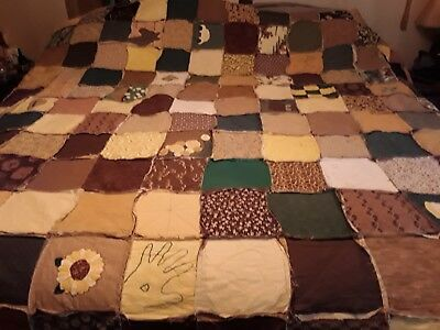 Antique Handmade Quilt Amazing King size. 104 X 106. 1940's
