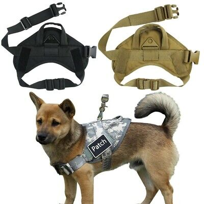 "Tactical Dog Harness for Small Dog with Handle 1.5"" Military K-9 Training Vest"