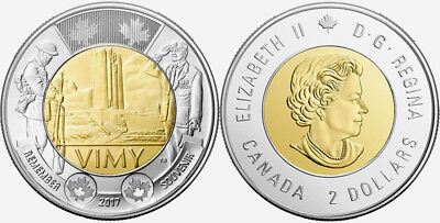 CANADA 2017 New Toonie The Battle of VIMY Ridge (BU directly from mint roll)