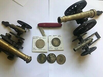 Junk Drawer 5 Silver US Coins Barber JFK, Swiss Knife, Cannons Antique Old