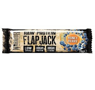 Warrior RAW Protein Bars Low Sugar Flapjacks - 12 x 75g High Protein & fibre bar