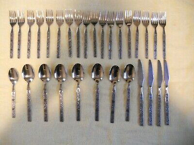 LOT of 30 Vintage Dalmatia Stainless by Present Stainless Flatware