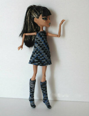 Monster High Doll CLOTHES Cleo DRESS & BOOTS Egyptian Fashion NO DOLL dolls4emma