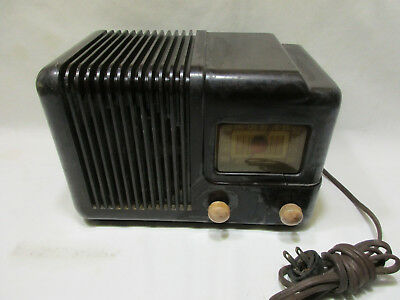 Super-RARE 1941 IMPERIAL T501 Art Deco AM Radio, Parts or Restore