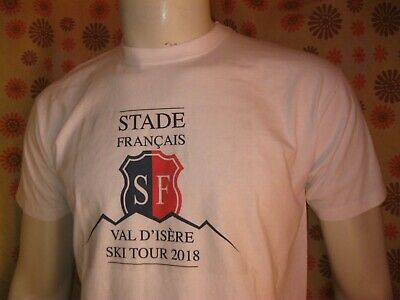 Ancien T-SHIRT MAILLOT STADE FRANCAIS VAL D'ISERE SKI TOUR 2018 RUGBY TM Jersey