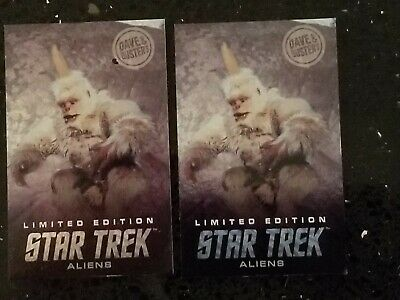 RARE LIMITED EDITION Mugato Star Trek Aliens Card Dave & Busters - Two Pack