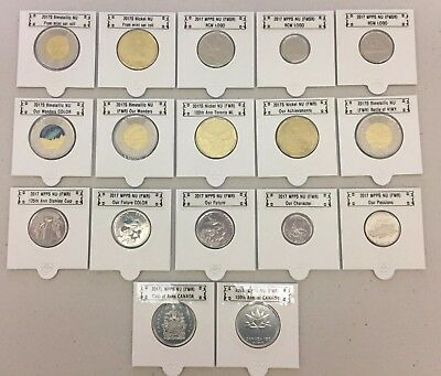 CANADA 2017 New Complete coins set 100% FULL KIT (17 coins BU from roll)