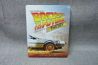 Back To The Future 30th Anniversary Trilogy Steelbook Limited Edition Blu-Ray(H)