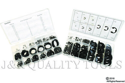 600pc Set of (300pc) Snap Ring & (300) E-Clip Kits Great Assortment of Sizes