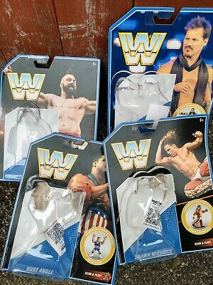 WWE retro series 7 cards, bubble, mayhem codes Mattel not Hasbro wcw wwf