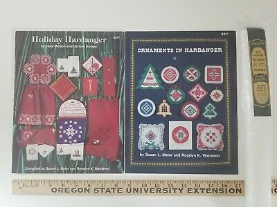 Christmas Hardanger Embroidery Pattern Booklets PLUS 22ct FABRIC - Nordic Needle