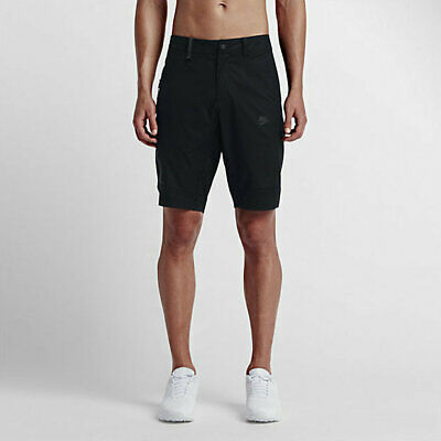 Men Nike Air Sportswear Woven Knee Length Shorts White Black Grey 928633 100 NSW
