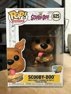 FUNKO POP! SCOOBY w/ SANDWHICH #625 SCOOBY-DOO! 50 YEARS AUTHENTIC IN HAND