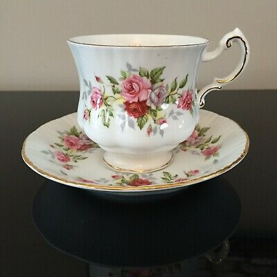 """Paragon """"English Flowers"""" Series ROSES teacup and saucer duo"""