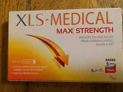 XLS Medical Max Strength Weight Loss Pills - 5 Day Trial (20 tablets) 06/2021