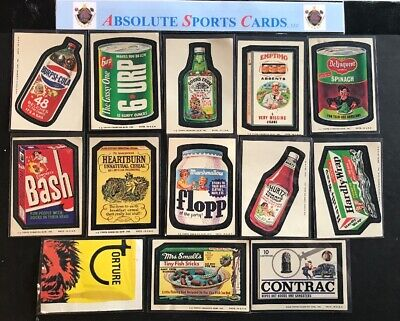 1974 Wacky Packages 13 Card Lot | Goon's Farm Hurtz Mrs. Smell's Delinquent