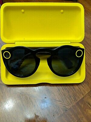 Snapchat Spectacles Glasses With Case NO Charger - Black - Excellent CONDITION