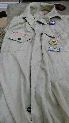 Official BOY SCOUTS Of America UNIFORM Shirt BSA Scout Vintage YOUTH XXL (2xl)