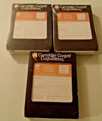 Lot Of 3 8-Track Recording Cartridges, 64 Minutes, 2 Sealed