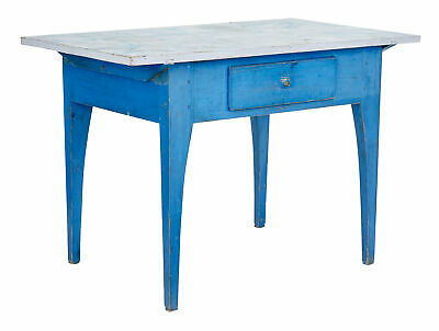 19Th Century Traditional Rustic Painted Swedish Side Table