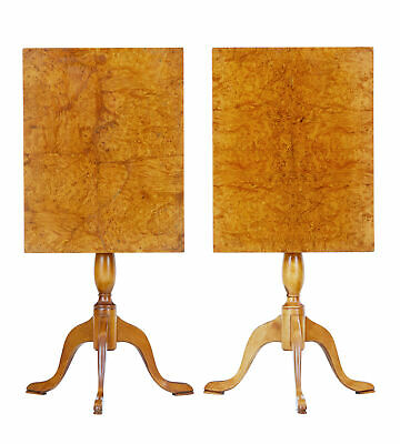 Pair Of 19Th Century Birch Tilt Top Occasional Tables