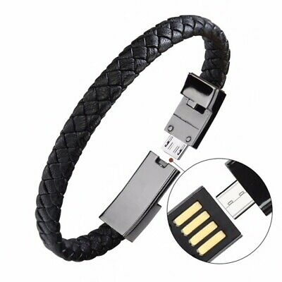 USB Bracelet Charger Data Charging Cable Sync Cord For Phone Samsung HUAWE TypeC
