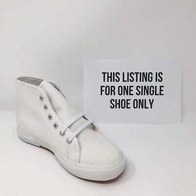 SINGLE SHOE 6 Supera Sneakers Left Foot White 2095 Cotu Amputee Replacement New