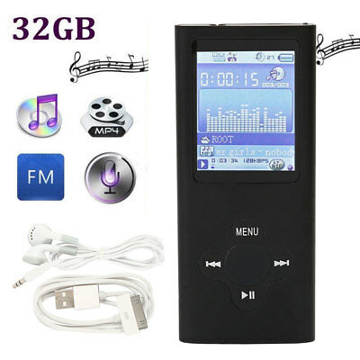 "1.8"" LCD MP3 MP4 Player Portable 32GB IPod Style Music Video Media FM Radio G3"