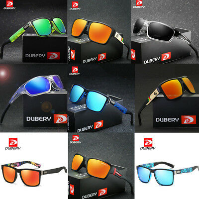 DUBERY Men Sport Polarized Driving Sunglasses Outdoor Riding Fishing Goggles One